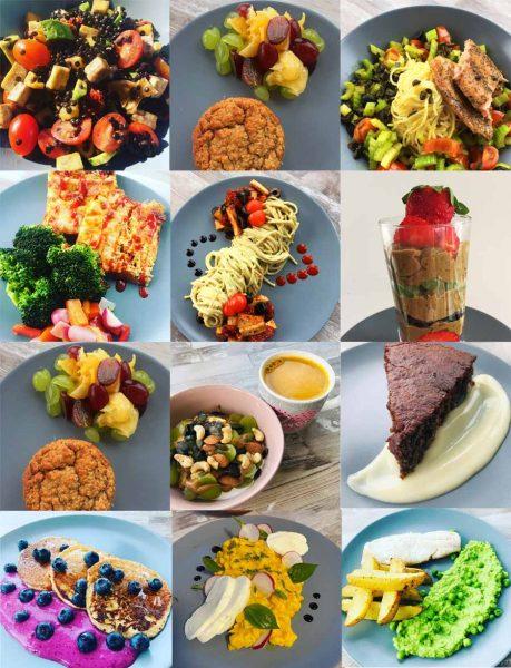mozaika fotografií jídel